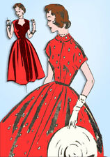 1950s Vintage Mail Order Sewing Pattern 8988 Uncut Misses Rockabilly Dress 30 B