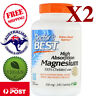 2x Doctor's Best Magnesium High Absorption 100% Chelated w/ Albions, 240 Tablets