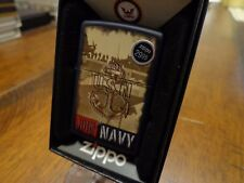 UNITED STATES NAVY USN ANCHOR ZIPPO LIGHTER MINT IN BOX 2014