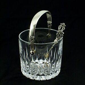 Georg Jensen Ice Bucket #1137 and Tongs - Acorn/ Konge