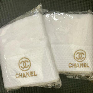 CHANEL Novelty Face Towel Set of 2 from Japan New B358