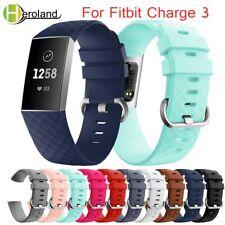 para Fitbit Charge 3 Correa reemplazo banda pulsera de silicona