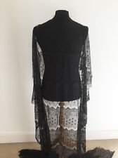 Intricate Art Deco Inspired Black Lace Dressmaking Fabric