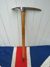 OLD SCHOOL ANTIQUE VINTAGE MOUNTAINEERS  ICE AXE SKI CHALET LODGE WALL DECOR