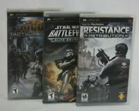 Lot of 3 PSP Everyone Games (Sony PlayStation Portable), SoCom, Star Wars