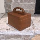 Vintage MCM Wood Box Slid Entry Shoe Shine MCM Dovetail Wooden Doll House