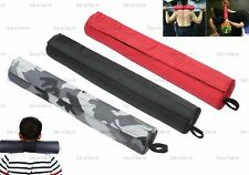 Padded Barbell Pad Cover Bar Pull Up Squat Olympic Standard Weight Back Support