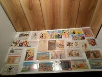 Antique/vintage lot of 31 humorous  comic postcards 17 are unused clean backs