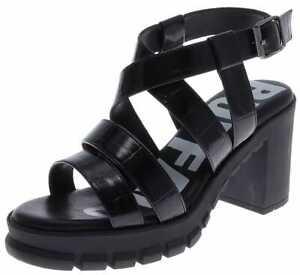 Buffalo RAGAN Damen Sandale Offene Schuhe Schwarz
