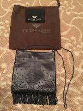 Bottega Veneta Black Leather Beaded Evening Bag w/ Chain Strap