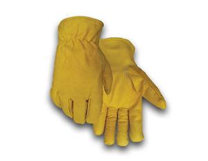 Golden Stag Gold Buffalo Keystone Thumb Black Fleece Lined Gloves Size:M- XL