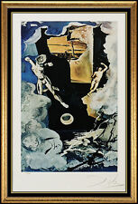 Salvador Dali TAROT CARD Color Lithograph Hand Signed Surreal Artwork The Tower