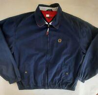 Tommy Hilfiger Men's Size XL Full Zip Long Sleeve Collared Navy Blue Jacket