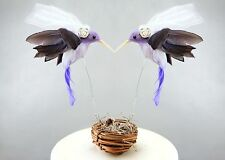 "Purple Hummingbird Gay / Lesbian Wedding Cake Topper: ""Bride & Bride"" Love Birds"