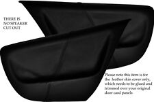 BLACK STITCHING FITS  VW LUPO 98-05 2X REAR DOOR CARD LEATHER SKIN COVERS ONLY