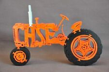 Orange Case Farm Tractor NEW Wood Toy Puzzle Hand Made USA