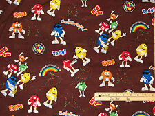 M&M'S® Licensed Funfetti Allover Mars Candy Cotton Fabric by the 1/2 Yard #12148