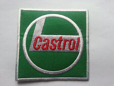 MOTORSPORTS RACING TYRE SEW ON / IRON ON PATCH:- CASTROL (d) SQUARE OILS LOGO