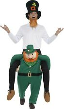 Uomo Donna Cavalluccio Ride On leprechaun San Patrizio Costume vestito