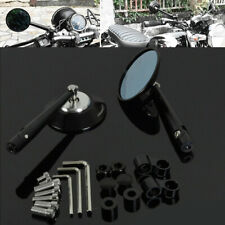 CNC Aluminum Universal Side Rear Bar Round Rearview Mirrors Motorcycle Street