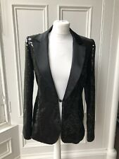 Karl Lagerfeld For H&M Black Sequin Tuxedo Size 10 Rare 2004 BNWT