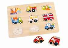 Tooky Vehicle Transportation Pegged Wooden Puzzle Educational Toy Christmas Gift