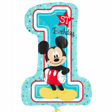 "Disney Baby Mickey Mouse 1st Birthday Party Supply SuperShape Jumbo Balloon 28"""