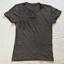 Brown and Black tribal studded t-shirt Small Size