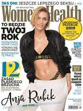 WOMEN'S HEALTH Poland 1-2/2019 January-February 2019 ANJA RUBIK on front cover