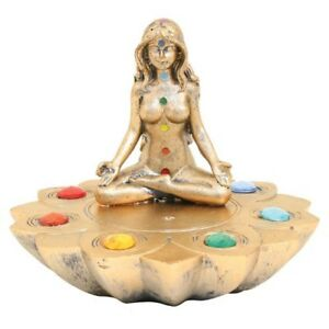 INCENSE BURNERS - Meditation Incense Plate W / Chakra stones - MEDP