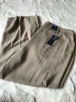 M&S Collection Ladies Wide High Rise Trousers Uk Size 22 Eu 50 Beige BNWT £40