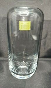 """Dansk Lead Crystal Glass Vase Made in Romania 8"""" Tall"""