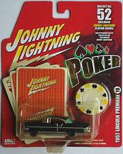 "Johnny Lightning -'57/1957 Lincoln Premiere negro mate ""póker"" nuevo/en el embalaje original"