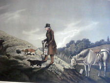Antique Hand Colored Aquatint H.Alken EARTH STOPPER 1820 Hunting, Sport