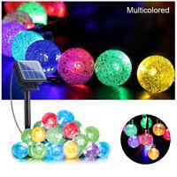 LED Solar Powered Retro Bulb String Lights Garden Outdoor FAIRY Party Hang Xmas