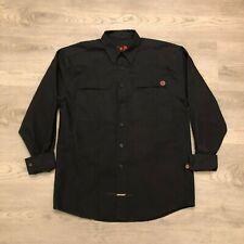 Independent Truck Co Mens Black Long Sleeve Button Shirt 80 Poly 20 Cotton Sz M
