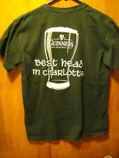 GUINNESS Best Head in Charlotte NC The GIN MILL St Patricks Day T Shirt Smal