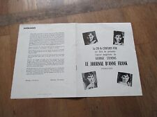 DOSSIER DE PRESSE CINEMA GEORGE STEVENS le journal d anne frank millie perkins