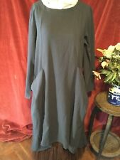 LAGENLOOK TUNIC WITH WATERFALL HEM AND BAGGY POCKETS , BOHEMIAN,  QUIRKY.  L