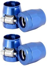 "FUEL LINE FITTINGS CLAMP blue 4EA FOR 3/8"" I.D.HOSE 2266 Worm Gear Max OD 0.725"