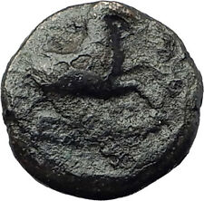 KYME in Aeolis 250BC Authentic Ancient Greek Coin AMAZON w HORSE & VASE i63239