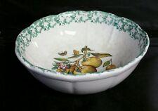 Vintage HIMARK Spongeware Apple Themed Large Scalloped Serving Bowl Italy