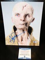 Andy Serkis THE LAST JEDI Snoke Signed 8x10 Photo STAR WARS Beckett PSA JSA