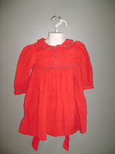 Strasburg GIRLS DRESS size 18 M RED CHRISTMAS HOLIDAY 100% COTTON STUNNING