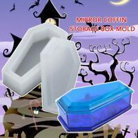 1PC Resin Jewelry Storage Epoxy Mould Coffin Shaped Trinket Box Silicone Mold