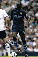 Signed Yaya Toure Manchester City Autograph Photo Ivory Coast (2)