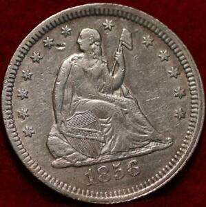 1856 Philadelphia Mint Silver Seated Liberty Quarter