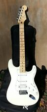 Fender Standard Stratocaster humbucker cream White w/GIG Bag Mexico MIM 2007