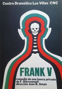 Cuban Art. Print of a poster by CNC. Frank V, n/d. Excellent condition.