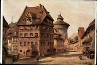 Nürnberg Albrecht Dürer Haus - Ludwig Mößler farbig  Postkarte AK PK ungelaufen